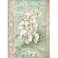 Rice Paper - Decoupage - 1 x A4 Size Sheet - White Orchid