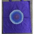 Purple glittery mandala tote bag