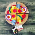 Felt pizza for play kitchen or cubby pretend play