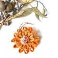 Gift Boxed Bloom Rustic Decoration Keepsake Flower Orange Button