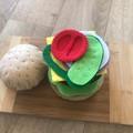 pretend play burger play set felt food