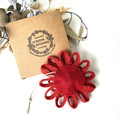 Gift Boxed Bloom Rustic Decoration Keepsake Flower Red Button
