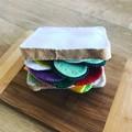 Felt sandwich with the lot pretend play food set