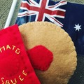 Felt food Aussie style pretend lamington, fairy bread, pie, vegemite sandwich
