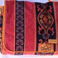 Messenger bag, tapestry fabric, adjustable strap