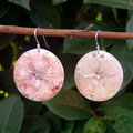 Real Flower Recycled Coffee Pod Earrings with Swarovski crystal centre