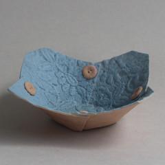Blue Lace Flower Dish