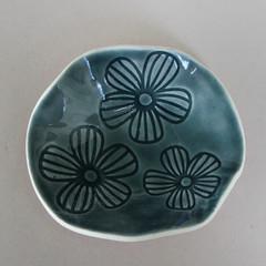 Small Blue Flower Dish