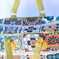 Handbag, tapestry fabric
