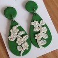 Floral Dangle Drop Earrings FREE POST