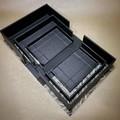 Set of three handmade nesting clamshell boxes