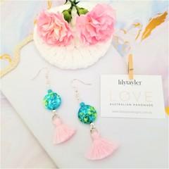 Riverstone Agate Tassel Earrings