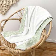 Mint dash baby blanket