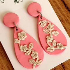 Floral Dangle Drop Earrings FREE POST