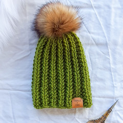 Reserved to Tasha - BOTTLEBRUSH BEANIE - Toddler - Fatigue Green