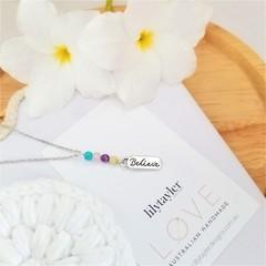 Rainbow Believe Charm Necklace