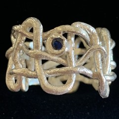 All Knotted Up - silver ring