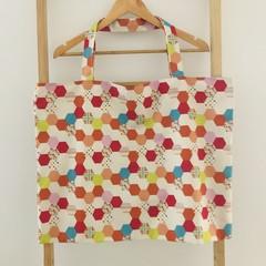 Oversized Hexagon geometric fabric bag