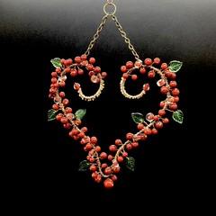 Cherry Heart Hanger