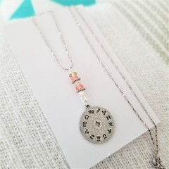 Cherry Quartz Zodiac Sun Charm Necklace