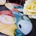 'Bubbles' art resin coasters - sample stock.