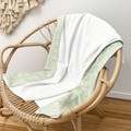 Mint green dash baby blanket