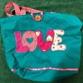 LOVE bubble word shopping bag for Mum, sports, library, gift bag washable