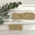 Baby crochet headband, size 0-6m, crochet ear warmer, adult knitted headband