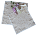 Table centres or side table mats, modern, brocade fabric design, reversible