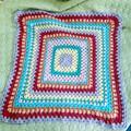 Cotton Granny Square Baby Blanket