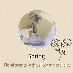 Handmade Soap - Spring (inspired by tropic scents of the Frangipani Flower)