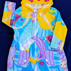 Under the Sea SWIM ROBE with WATERPROOF back Size 2