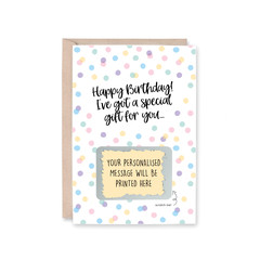 'Happy Birthday' Scratch Me! Personalised Greeting Card