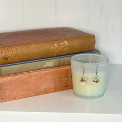 Lilac flower earrings - resin