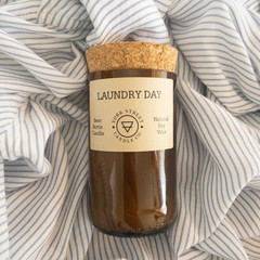 Laundry Day Beer Bottle Candle