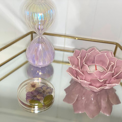 Mauve flower coaster - Resin