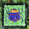 Cute bug Smalti mosaic. Wall hanging.