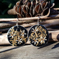 Real Flower Recycled Coffee Pod Earrings on Sterling Silver Hooks