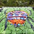 Cute bug Smalti mosaic. Wall hanging.