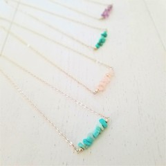 Crystal Curb Sterling Silver Necklace