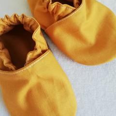Mustard soft soled shoe