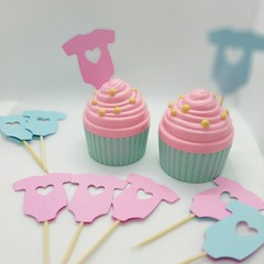 Cake toppers,  Baby Shower, Cupcakes