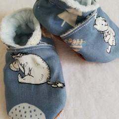 Pooh Bear Blue Forest soft soled shoe