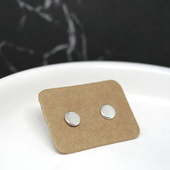 Tiny Dot Studs - Handmade Sterling Silver Earrings by Purplefish Designs