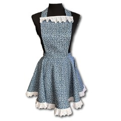 Polka dots and Moonbeans ladies apron with flare skirt