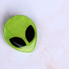 Alien Pin   Alien Brooch   Polymer Clay   Resin