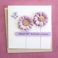 Handmade Birthday Card, Personalised Birthday Card For Her, Mum Card