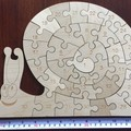 Snail Numbers Wood Puzzle - 33 Pieces
