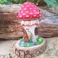 Fly Agaric Mushroom Fairy House Jar
