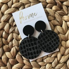 Recycled Eco Black Felt Dangles | Sustainable Fashion